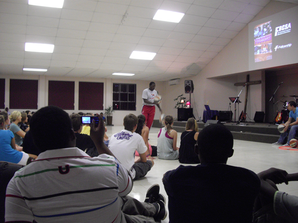 Odhiambo at Friday night youth ralley
