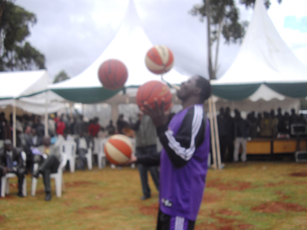 Odhiambo at his alma mata Iten